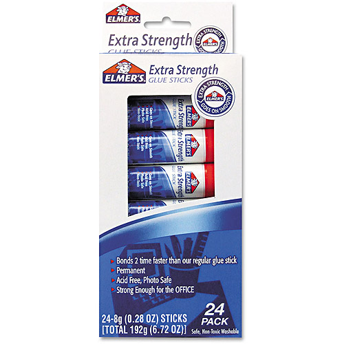 Elmer's Extra-Strength .28oz Office Glue Stick, 24/Pack