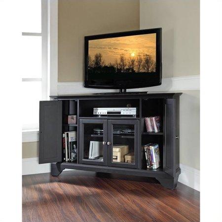 "Pemberly Row 48"" Corner TV Stand in Black - image 1 de 2"