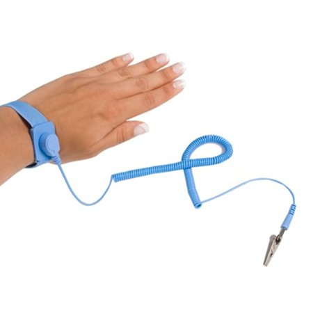 StarTech ESD Anti Static Wrist Strap Band with Grounding Wire SWS100 (Blue)