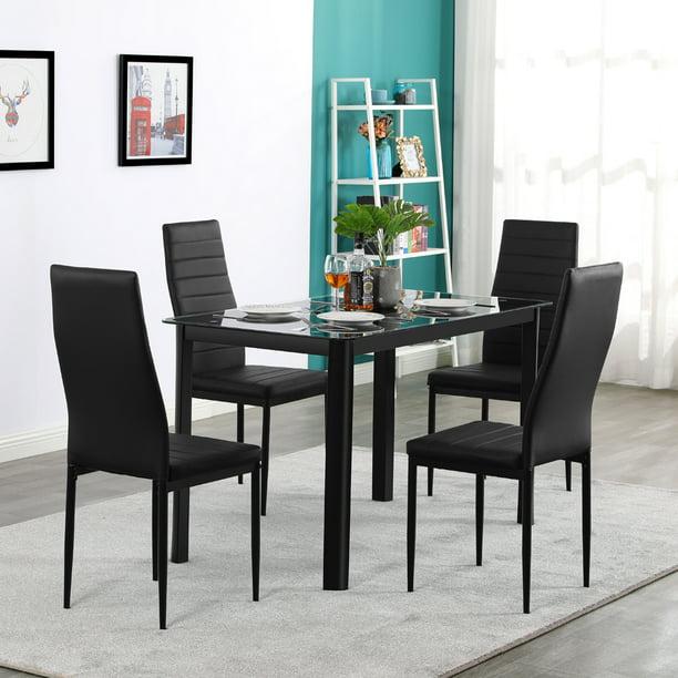 Urhomepro Elegant Dining Table Set, Stylish Dining Room Chairs