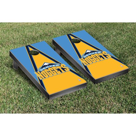 Denver Nuggets Triangle Cornhole Game Set - No (Triangle Nugget)