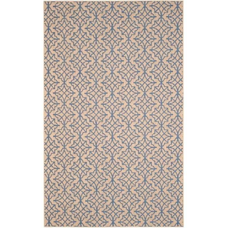 Safavieh Palm Beach 4' X 6' Hand Woven Rug in Natural and Black - image 2 de 8