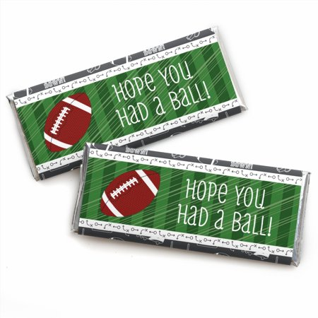 Football Party Favors (End Zone - Football - Candy Bar Wrappers Baby Shower or Birthday Party Favors - Set of)