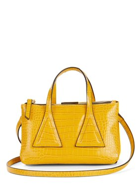 Scoop Faux Crocodile Top Handle Crossbody