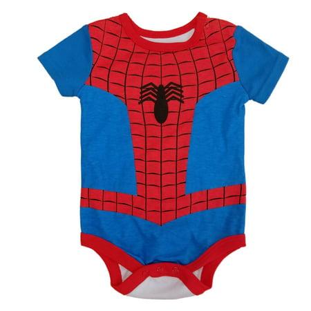 Marvel Infant Boys Spider-Man Character Costume - Spiderman Mens Onesie