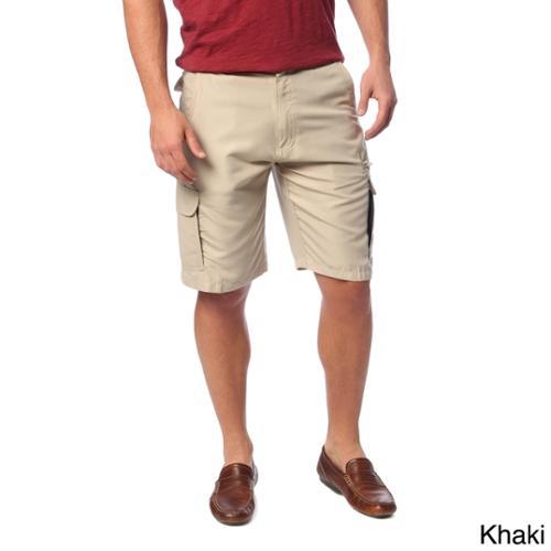 Burnside Men's Microfiber Casual Shorts Khaki  36