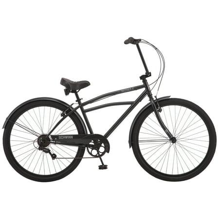 Schwinn Midway cruiser bike, 29-inch wheel, 7 speeds, men's frame, black