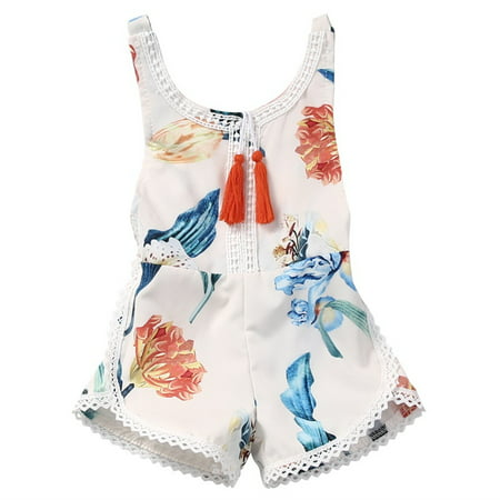 bafd0cfe432 Newborn Infant Baby Girl Kids Floral Romper Jumpsuit Bodysuit Summer Backless  Outfits One-Piece Clothes 0-4Y - Walmart.com