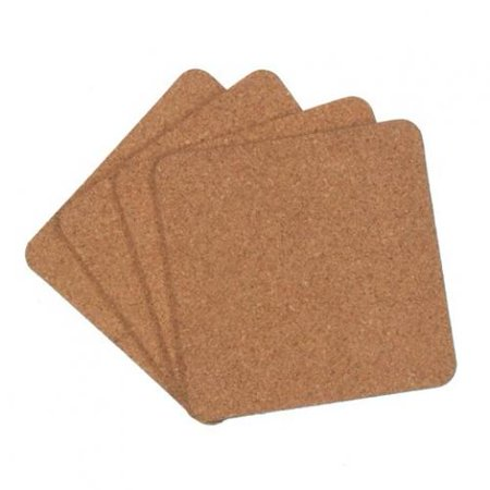 Cork Coaster Set - Square - 3.92 inches - 4 pieces