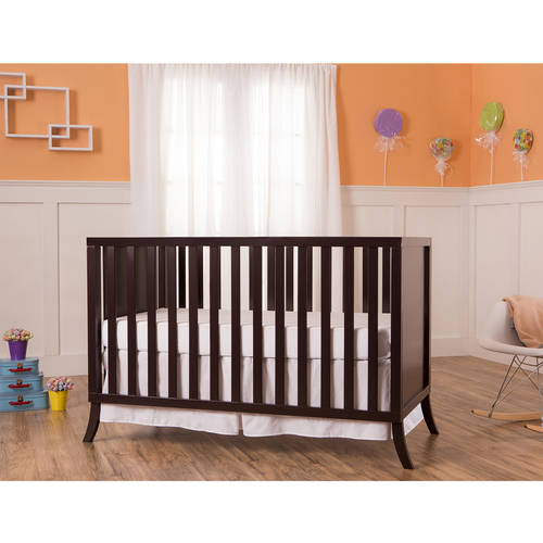 Dream On Me Madrid 5-in-1 Convertible Crib, Chocolate