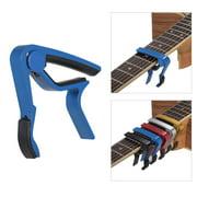 Aluminum Alloy Quick Change Guitar Capo Clamp Single-handed for Acoustic Folk Guitar Bass Ukulele