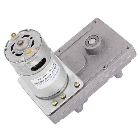 DC12V 24RPM High Torque Electric DC Worm Gear Box Motor Speed Reducer Worm Gear Reducer