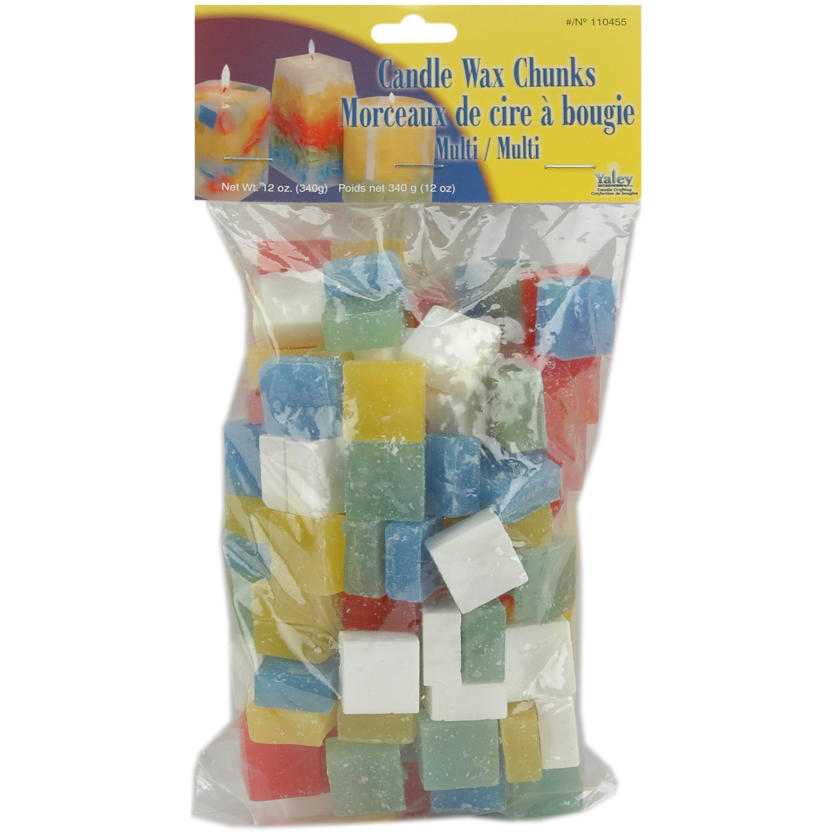 Candle Wax Chunks, 12oz, Multi