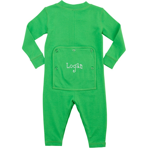 Personalized Toddler Message Long John, Green