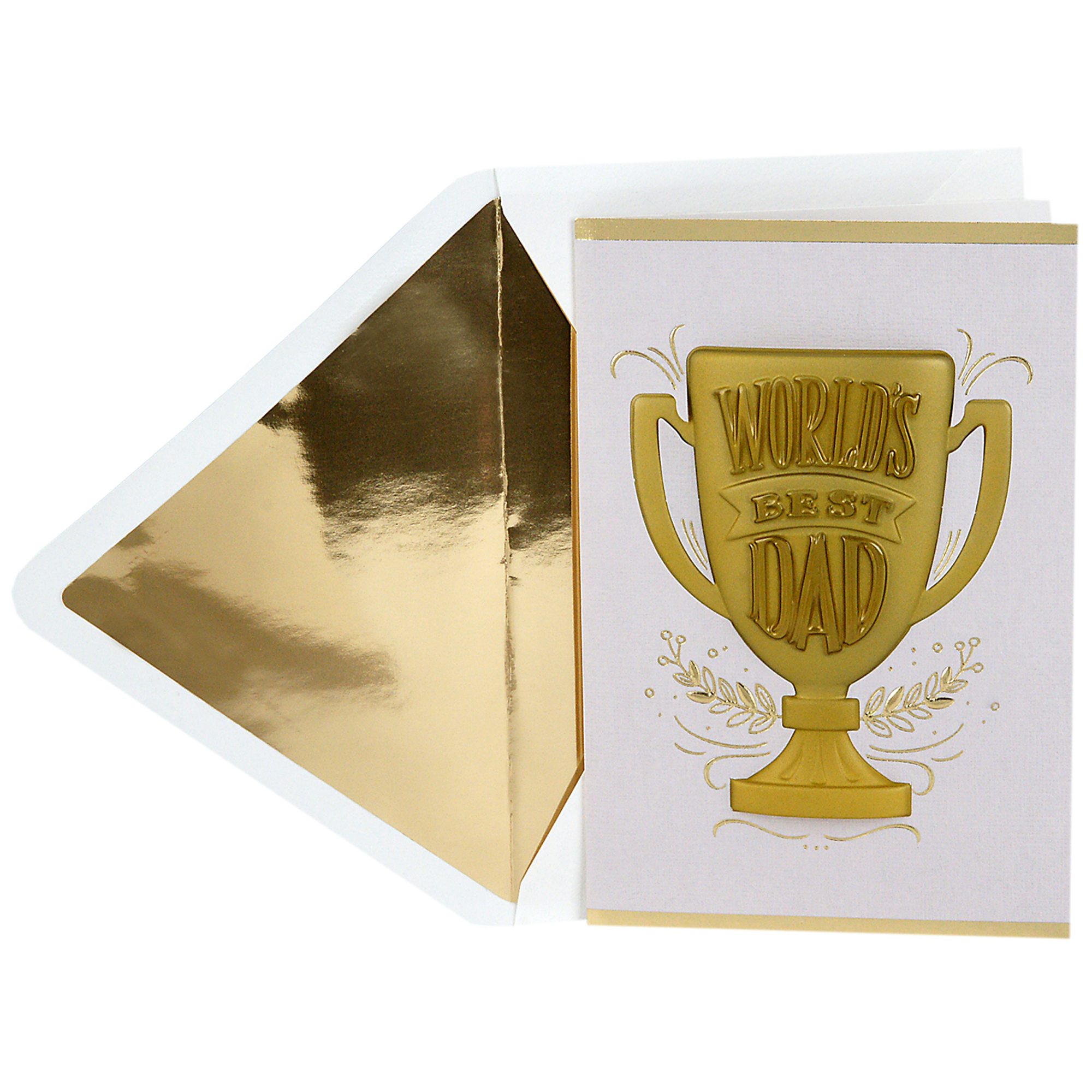 Hallmark Signature, World's Best Dad Trophy, Father's Day Greeting Card