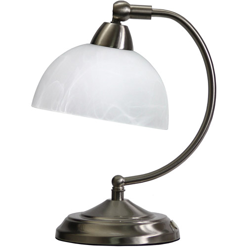 Elegant Designs Mini Modern Bankers Desk Lamp With Touch Dimmer Control Base
