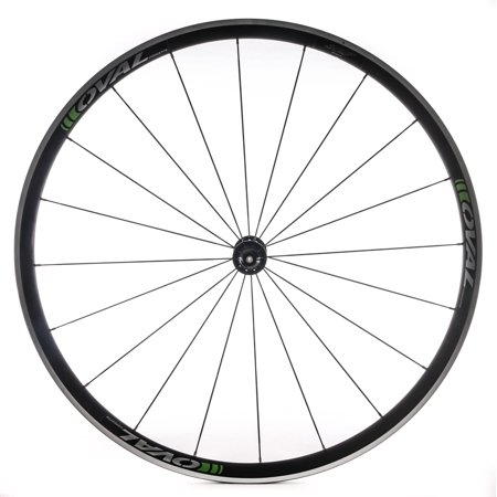 Clincher Road Wheels (Oval Concepts 327 700c Alloy Road Bike Front Wheel Clincher Silver/Green QR)