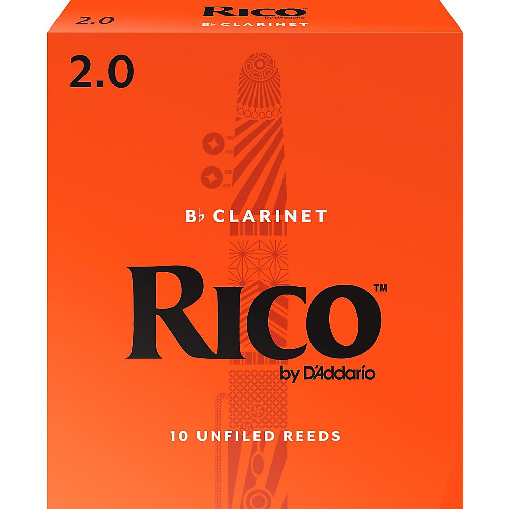 Rico Bb Clarinet Reeds, Box of 10 Strength 2