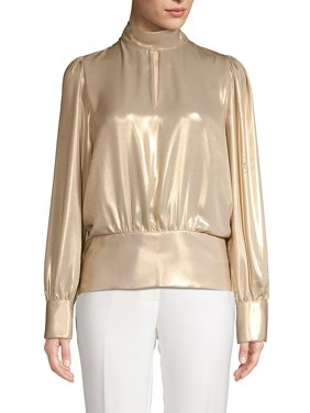 Metallic Cutout Top