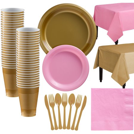 Party City Mix and Match Plastic Tableware Kit for 50 Guests, 487 Pieces, Includes Plates, Napkins, and Utensils](Party City 20 Coupon)