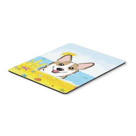 Sable Corgi Summer Beach Mouse Pad, Hot Pad or Trivet