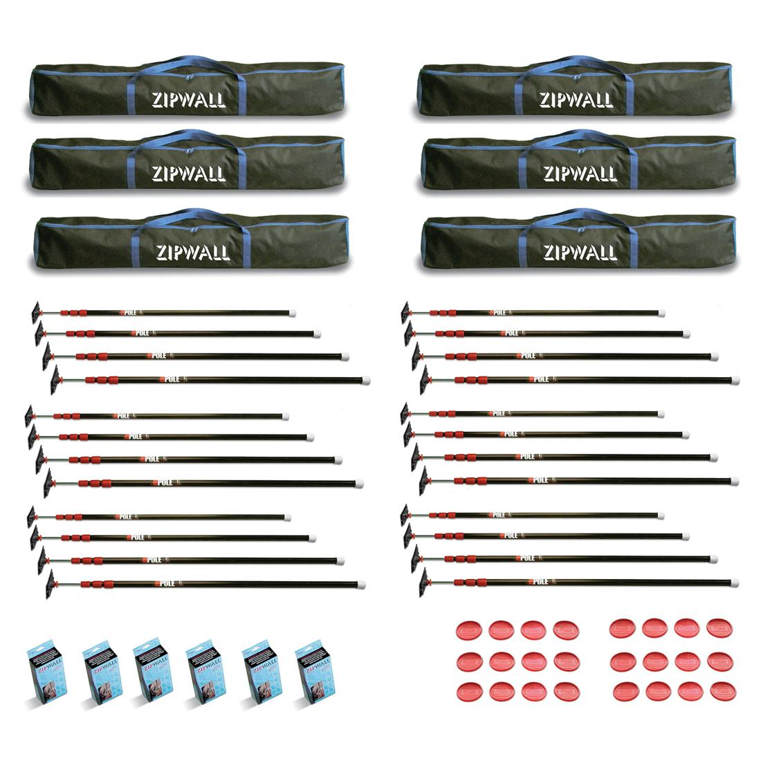 Zipwall Zp4 10 Feet Spring Loaded Stainless Steel Pole Kit