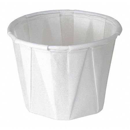 SOLO CUP Souffle Cup,1 oz.,White,PK5000 100-2050 - Souffle Cups