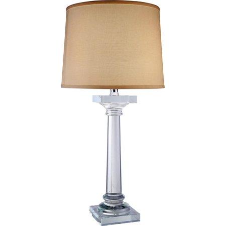 Table Lamp REGINA Transitional 1-Light Clear Chrome Crystal New E26 Medi EL-3022