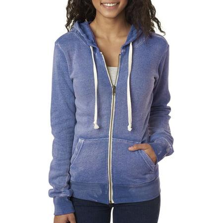 MV Sport Women's Angel Fleece Hooded Full-Zip Sweatshirt Angel Wings Hooded Sweatshirt