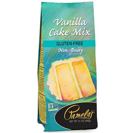 Vanilla Cake Glaze - Pamela's Gluten Free Non-GMO Vanilla Cake Mix, 21 oz