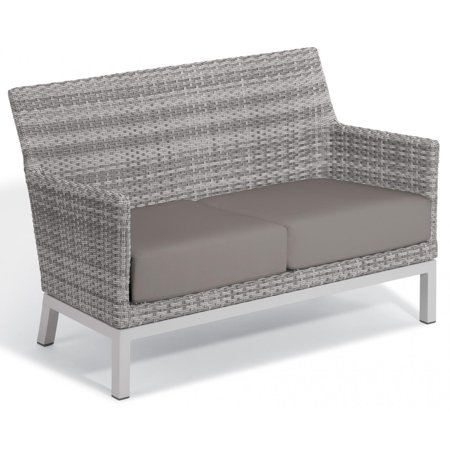 Argento Wicker Patio Loveseat W/ Stone Cushions By Oxford Garden ()
