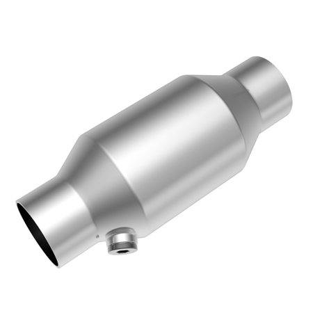"""2.5"""" Inlet/Outlet Universal Catalytic Converter 425250 Serise Direct Fit Converter High Flow Stainless Steel (2.5inch W/O2 Nut)"""