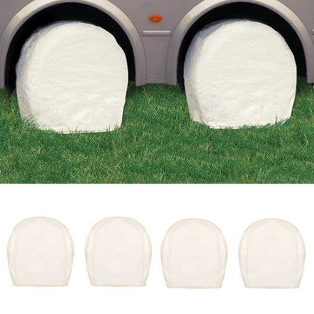 Set Of 4  Wheel Tire Covers For Rv Auto Truck Car Camper Trailer To 28  Diameter