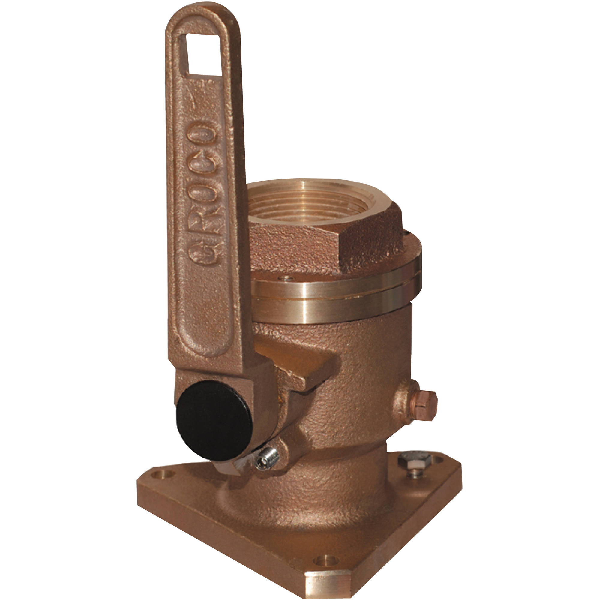 Groco BV Bronze Full-Flow Flanged Ball-Type Seacock