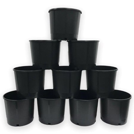 5 Gal Heavy Duty Round Nursery Trade Pot (4.2 gal / 18 liters / .56 CU FT) 10-Pack