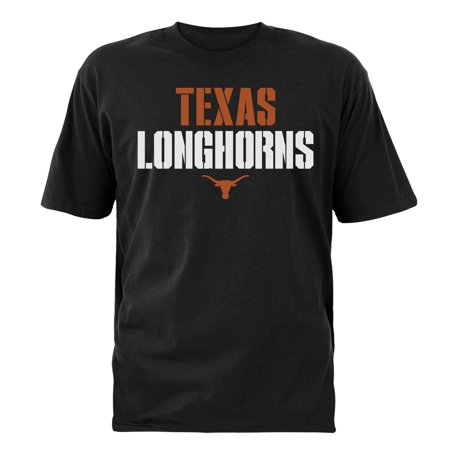 Texas Longhorns Tri Color (Men's Black Texas Longhorns Stencil Stack T-Shirt)