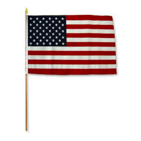 12x18 12''x18'' USA American 50 Star Grave Marker Stick Flag BEST Garden Outdor Decor polyester material FLAG PREMIUM Vivid Color and UV Fade Resistant, 12x18.., By Moon,USA