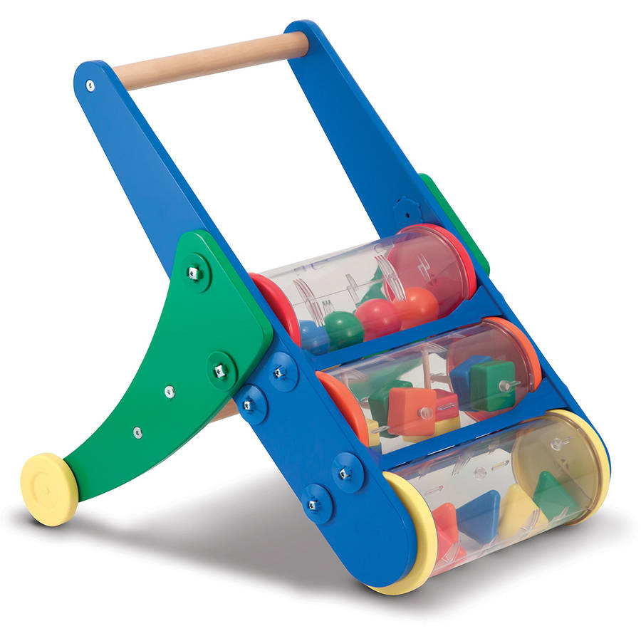 Melissa & Doug Rattle Rumble Wooden Push Toy and Activity Walker by Melissa %26 Doug