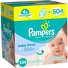 Pampers Baby Fresh Wipes, Refills, 7 packs of 72 (504 count)