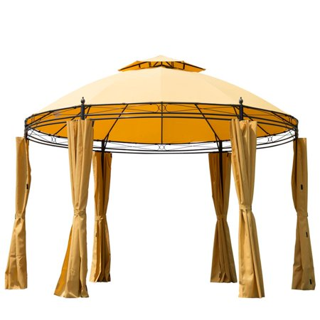 Outsunny 11 Round Outdoor Patio Canopy Party Gazebo W