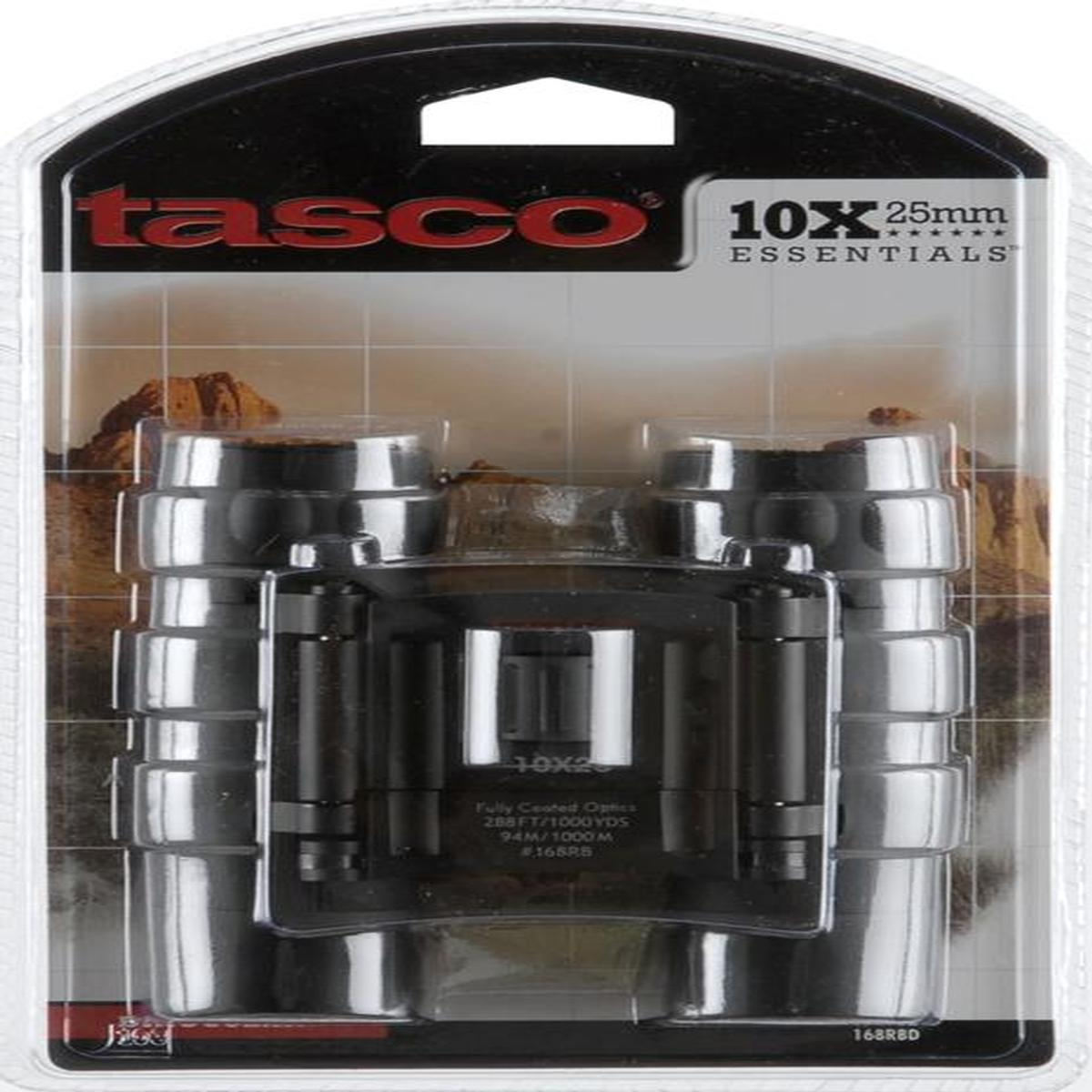 Tasco Essentials Binocular 10X25mm-Roof Prism-Black