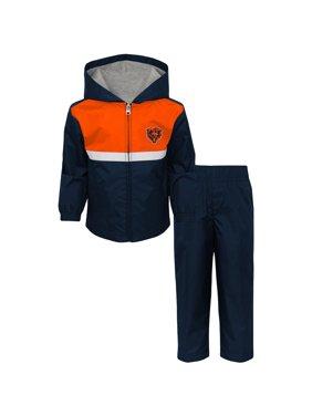 b7684b15b3e8 Product Image Toddler Navy Orange Chicago Bears Full-Zip Jacket   Pants Set