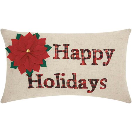 Nourison Home For The Holiday Happy Holidays Throw Pillow, 12
