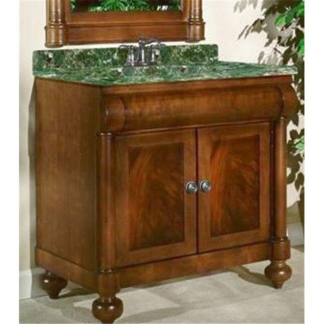 Kaco International 348-2224 John Adams Small Vanity Mirror in a Cherry Brown Krylon Finish