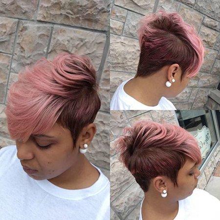 - Muxika Ladies Sexy High Temperature Silk Gradient Color Oblique Bangs Short Curly Hair