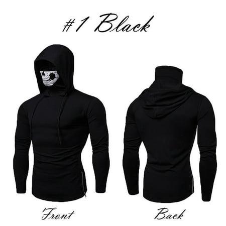 The Flash Hoodie With Mask (Mens Gym Thin Hoodie Long Sleeve Hoodies With Mask Sweatshirt Casual)