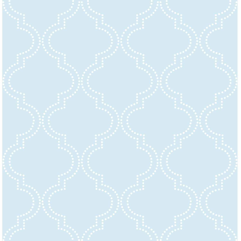 NuWallpaper Blue Quatrefoil Peel and Stick Wallpaper by NuWallpaper