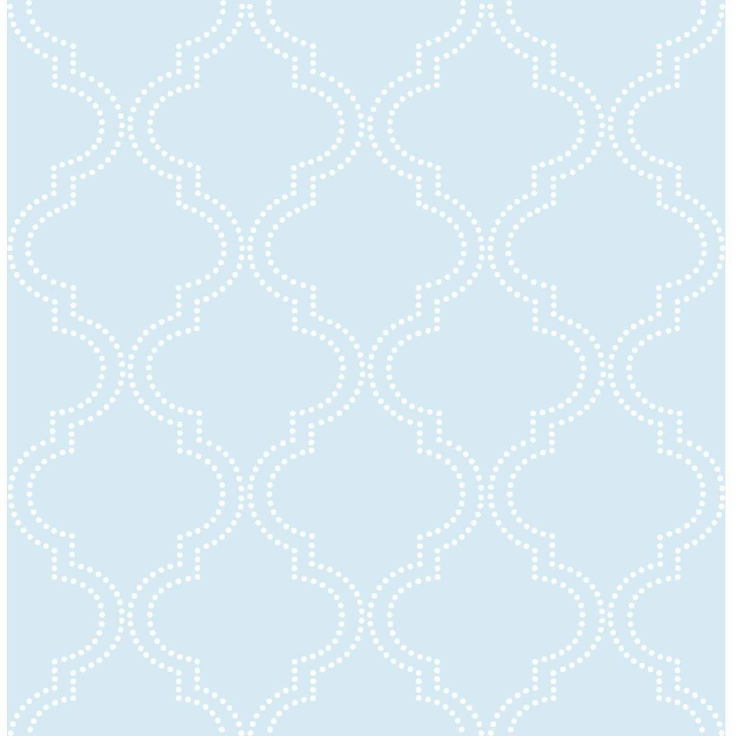 NuWallpaper Blue Quatrefoil Peel & Stick Wallpaper