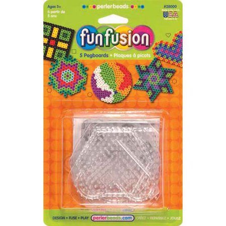 Perler Pegboards: Square, Clear, 5.7 inches, 5pc