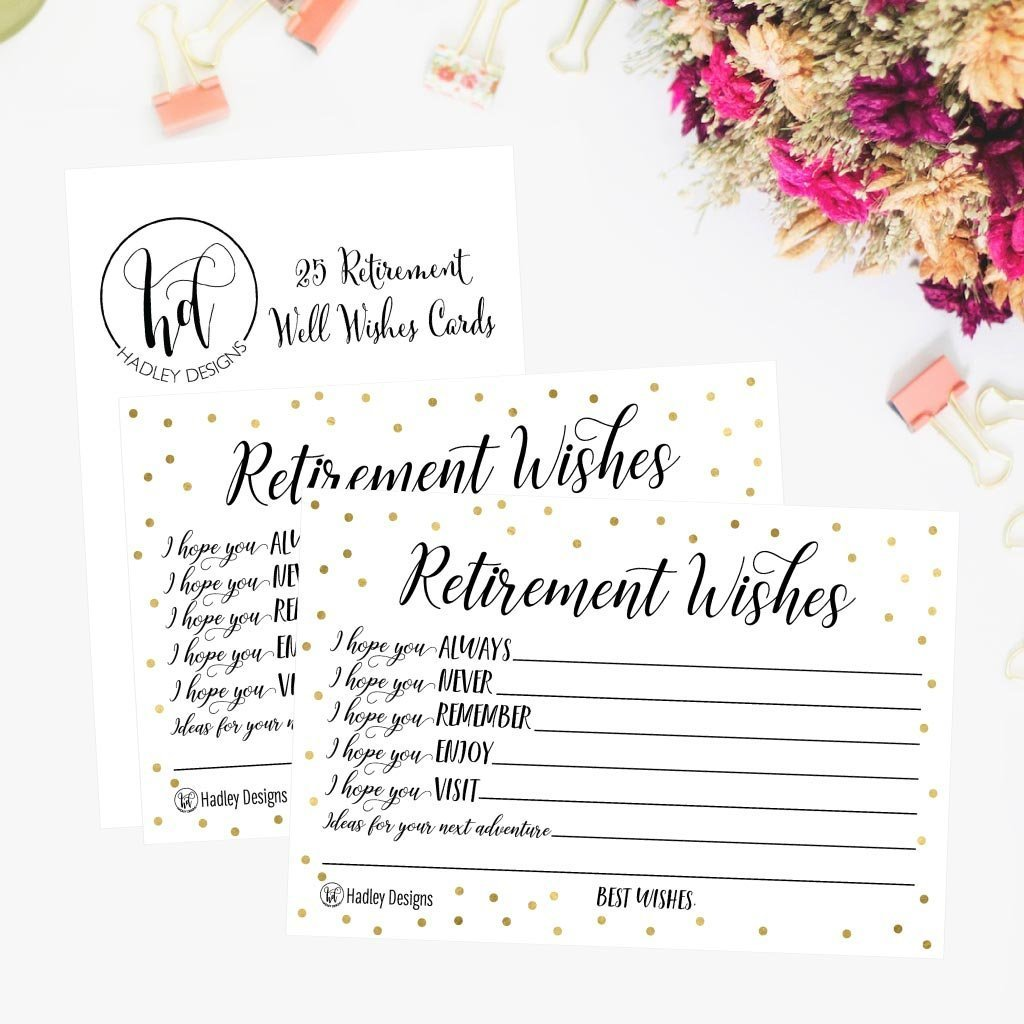 25 Retirement Party Advice Well Wish Card For Men Or Women Retired Supplies And Decorations Happy Retiree Celebration Gift Bucket List Wish Jar Funny Personalized Officially Retired Centerpiece Set Walmart Com